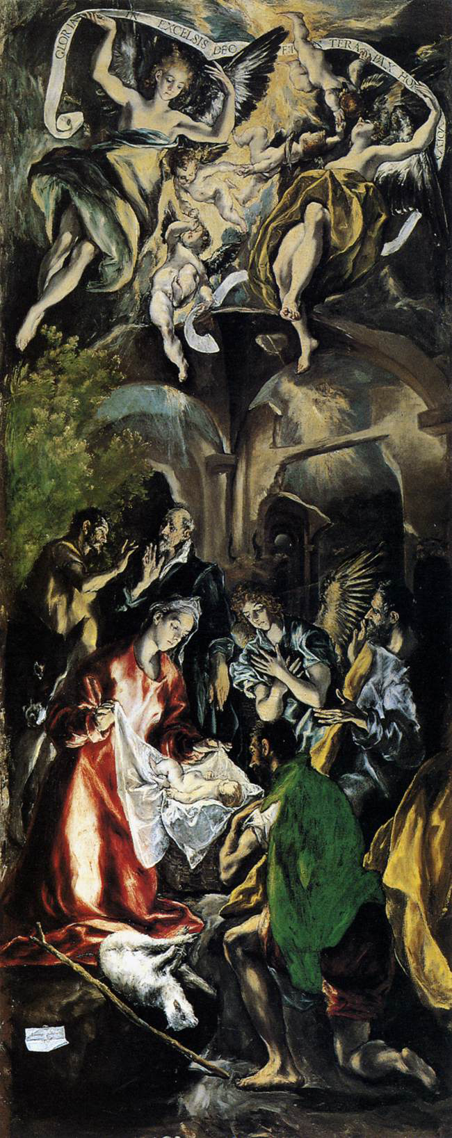 Adoration by El Greco