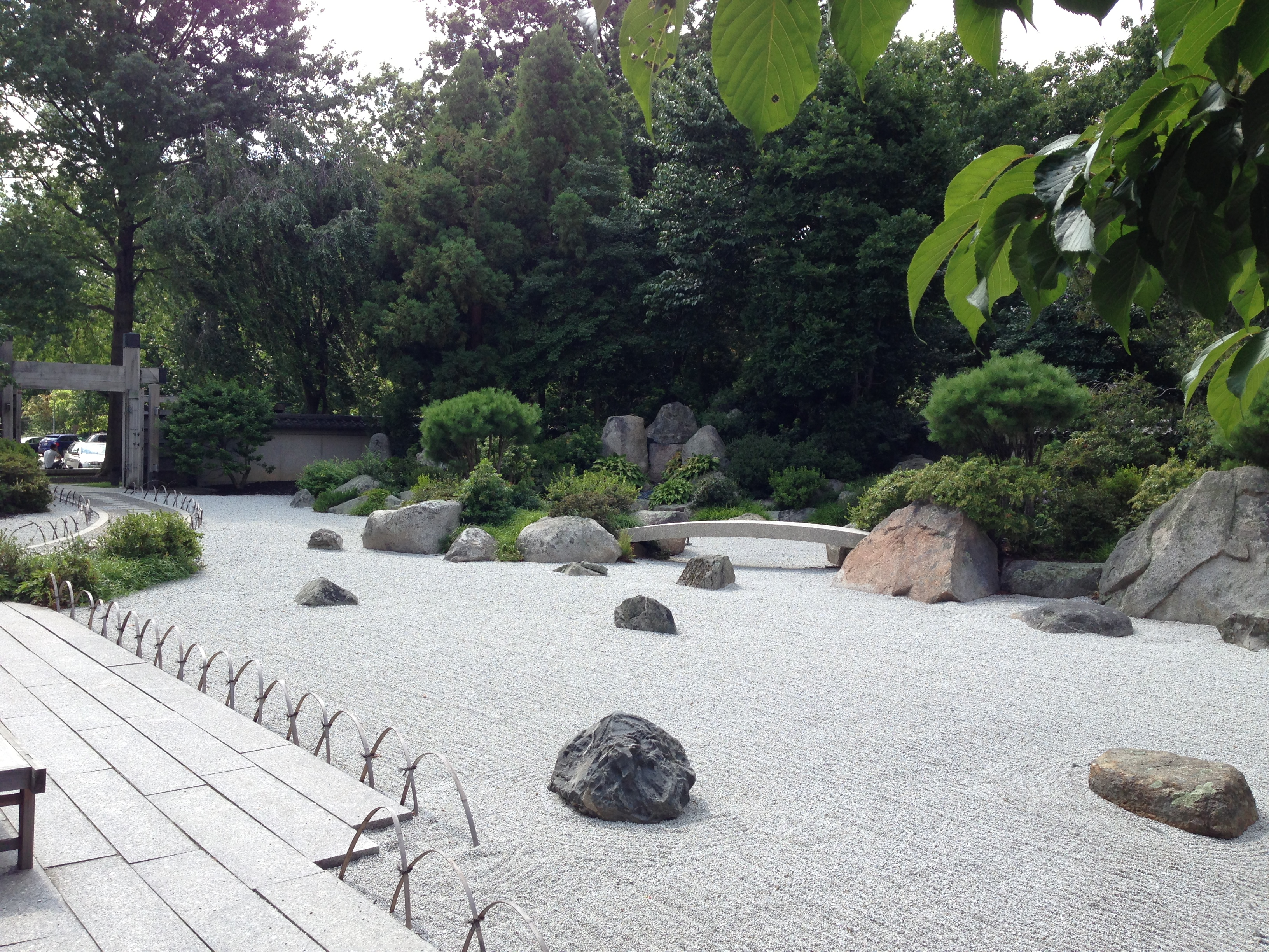Zen garden at Boston Museum of Fine Arts