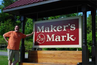 Maximum Leader at Makers Mark sign